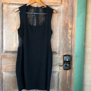 BEBE Black Back Lace Dress Size 10
